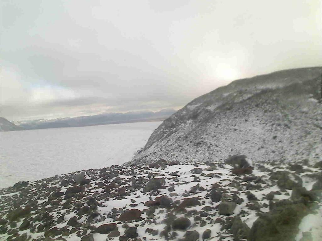 Moraine with snow