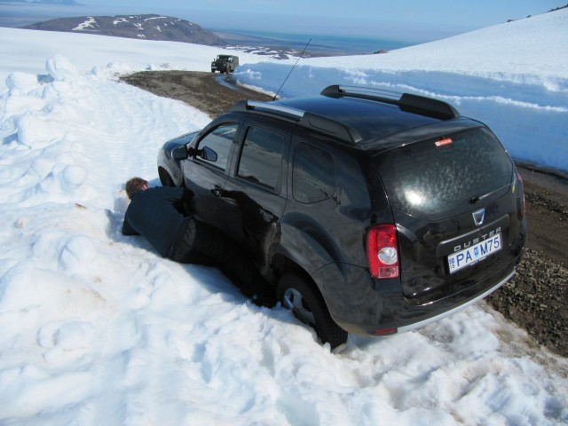 2013 June - Dacia Duster - was generally good on the track/road and used little diesel - just don't test it on soft snow!