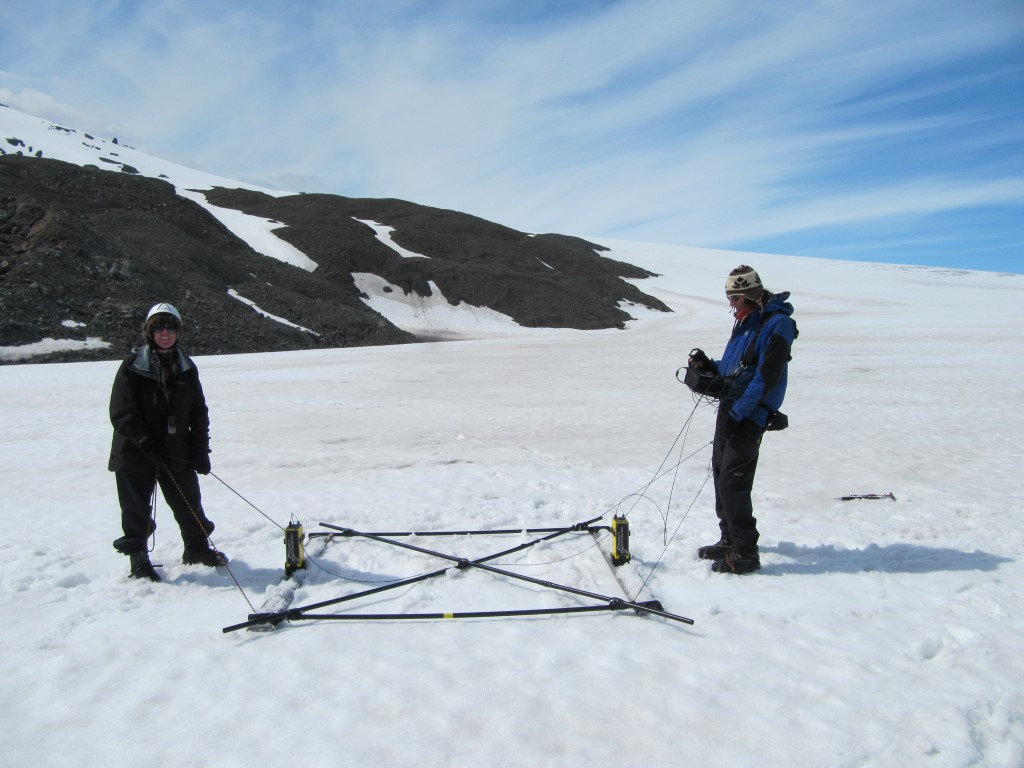 GPR survey of the glacier in 2014