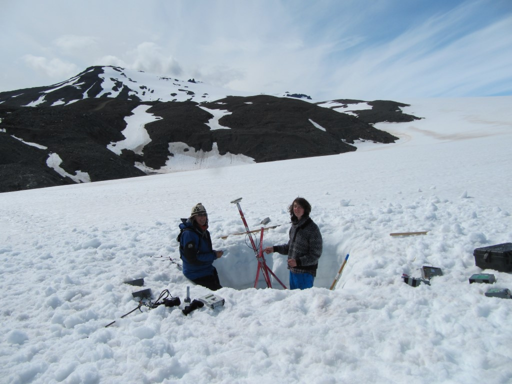 digging out a GPS station