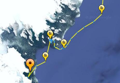 iceberg tracker locations up to 7/10/16