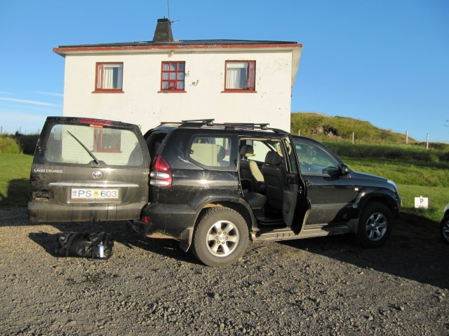 2013 - Toyota Landcruiser - one of our favourites (but more expensive to hire in Iceland) superb on the mountain track but not a lot of luggage space.