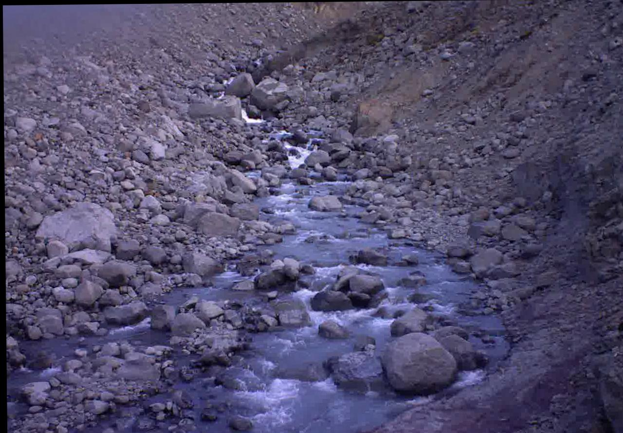 River bed with boulders.
