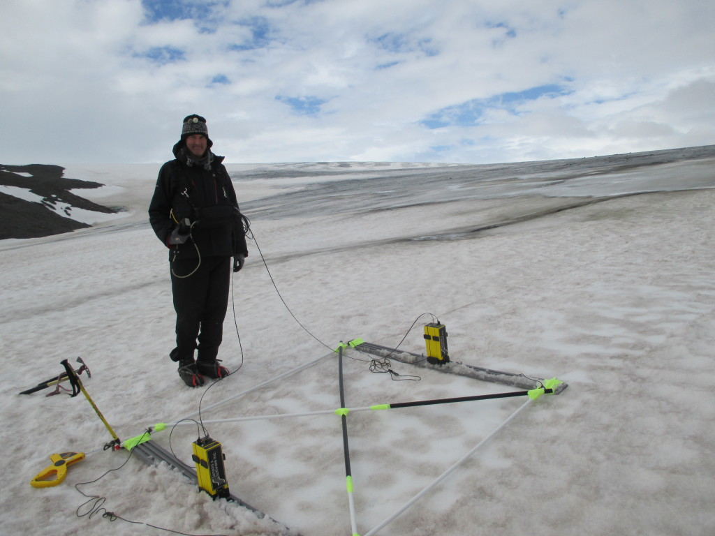 GPR re-survey of the glacier
